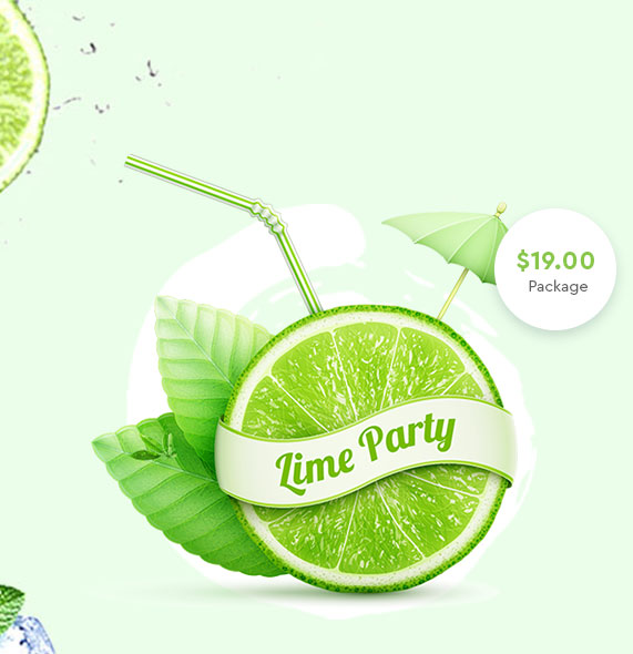 Lime Party Celebrations Pack