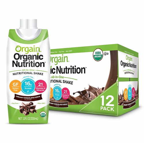 Orgain Organic Chocolate Nutritional Shake And Meal Replacement